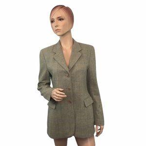 Luciano Barbera Herringbone Wool Jacket 42
